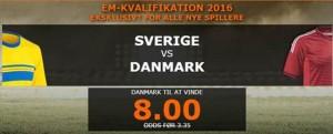 få odds 8 på dansk udebane sejr