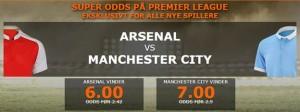 Få en gigantisk odds på Premier League dramaet d. 21/12/2015 mellem Arsenal - Manchester City